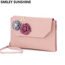SMILEY SUNSHINE brand lady shoulder bags small women messenger bags female retro flower handbag new pink mini crossbody bag girl