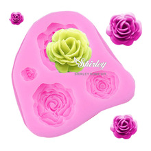 M025 Rose Flower shape fondant molds silicone mould for soap kitchen accessories biscuit sweets and candy food cake decorating