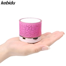 kebidu Wireless Portable Mini LED Bluetooth Speaker USB Wireless Music Sound Box Subwoofer Loudspeakers for phone pc for iphone(China)