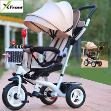 Buy New Brand Child tricycle High swivel seat child tricycle bicycle 1-6 years baby buggy stroller BMX Baby Car Bike for $189.20 in AliExpress store