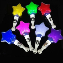 2017 Creative Five pointed Star Flashing Stick Cartoon Glowing Sticks LED light Kids Toys Christmas Party Supplies Halloween