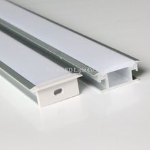20m (10pcs) a lot, 2m per piece, floor aluminum profile for led strip light, thick cover which can be step on