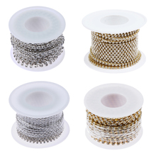 10 yards/roll clear crystal plating cup chain Sew-On rhinestones with crystal color metal cup chain trimming Apparel Sewing Tool(China)
