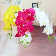 Fashion orchid artificial flowers DIY Artificial Butterfly Orchid Silk Fake Flowers Bouquet Phalaenopsis Wedding Home Decoration