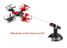 mini rc drone Battle Drone YD-822S 2.4G 4CH 6-Axis RTF RC Quadcopter with 3D Flip Infrared Combat Infrared Battle function gift(China)