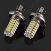 Best Price H4 120 LED 3528 1210 SMD Pure White Car Auto Light Source Fog  light Parking Driving Lamp Bulb DC12V
