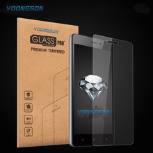 VOONGSON For Sony M2 2.5D 9H Premium Tempered Glass For Sony Xperia M2 With Retail Box Screen Anti Shatter Protector Film M 2