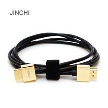 JINCHI HDMI cable HD cable version 2.0 HDMI gold small box PC TV Cable 1M / 1.5M / 3M / 5M Free Shipping(China)