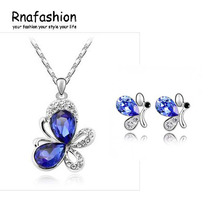 Silver Jewelry Sets CZ Wedding African Bridal Top Quality for women accessories Christmas Valentine Gift(China)
