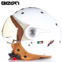 New vintage Beon motorbike motorcycle helmet vespa casco capacete open face capacetes motociclistas BEON B110A(China)
