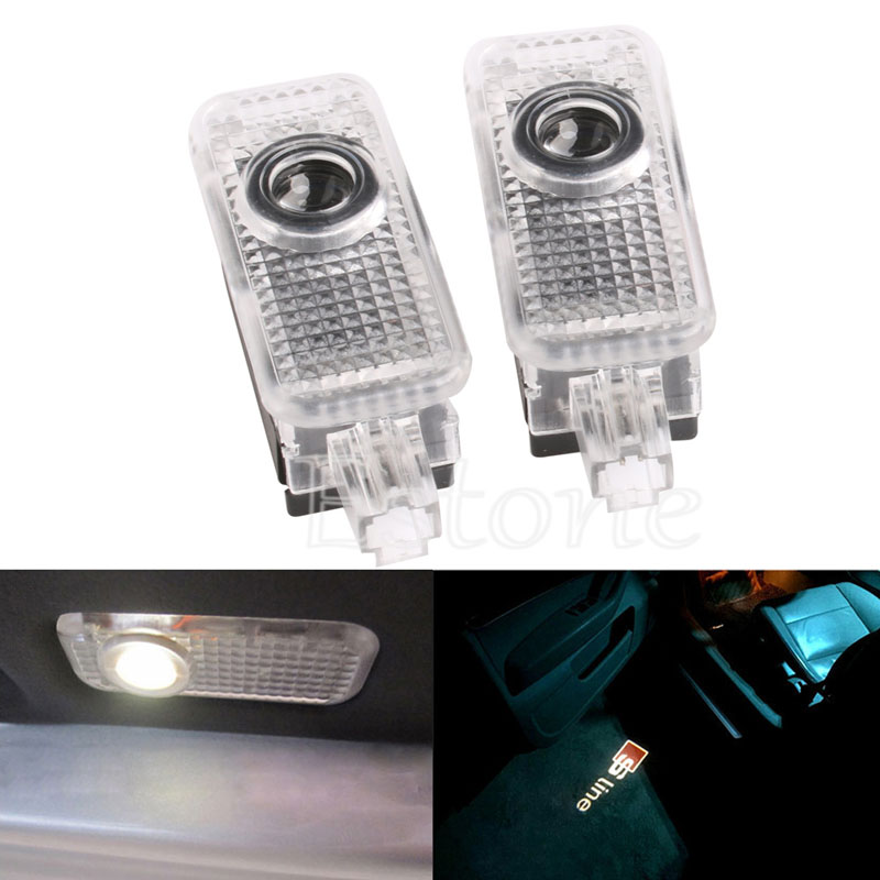 New Laser LED Door Courtesy projector Shadow Light For AUDI A3 A4 B5 B6 B7 B8 A6 C5 C6 Q5 A5 TT Q7 A4L 80 A1 A7 R8 A6L Q3 A8 A8L(China (Mainland))