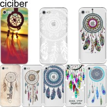 Indian Style Dream Catcher Net With Feathers soft silicon case cover For iPhone 6 6S 7 plus 5S SE Fundas Capa Capinha coque