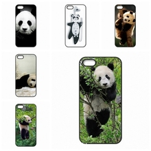 0855 Panda Funny Alarm cell phone bags case cover for iphone 4S 5S 5C SE 6S 7 PLUS Samsung S3 S4 S5 S6 S7 IPOD Touch 4 5