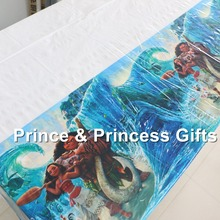 Kids Favors table cloth Baby Shower Plates Decorations Moana table cover Happy Birthday Party Supplies Tableware 108*180cm