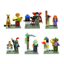 6Pcs/lot Scooby Doo Fred/Shaggy/Daphne/Vampire Building Block Bricks Toys For Kid Gift