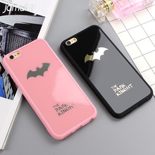 JAMULAR Dark Kinght Batman Phone Cover For iphone X 6 6s 7 Plus Mirror Silicone Case For iphone 7 6 6s 8 Plus Phone Cases Shell(China)
