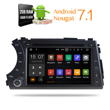 Android 7.1 2G RAM Auto Glonass GPS Navigation Car DVD Stereo Headunit forSsangYong Kyron Actyon 2005-2013 16GB ROM Multimedia(China)