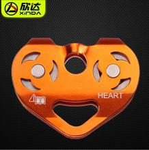 Xinda Outdoor rock climbing pulley for mountaineering Heart-shaped cable altitude pulley strop