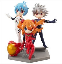 3pcs/set cute eva evangelion rei ayanami pvc great action figures hand done doll eva toy model toy birthday gifts