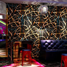 New KTV Wall coating Reflective Wallpapers bedroom Popular Bars Ballroom ktv Theme Wall paper 3D Flash TV Backdrop Wall(China)