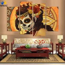 Hand Painted Abstract Canvas Painting painting Wall Art No Framed Decoration Fashion Picture 4pns A022(China)
