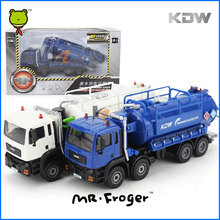 Mr.Froger Suction Sewage Truck Model alloy car model Refined metal Construction vehicles Decoration Toys Wastewater Recycling