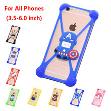 Cute Cartoon Silicone Universal Cell Phone Cases Fundas For Highscreen Power Five EVO Silicone Phone Cover Capa(China)