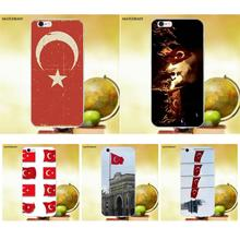 Matcheasy Soft Silicone TPU Transparent Capa Case Nice Turkish Flag For Apple iPhone 4 4S 5 5C SE 6 6S 7 8 Plus X(China)