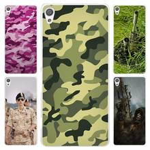 Military camouflage colorful Clear Cover Case for Sony Xperia Z1 Z2 Z3 Z4 Z5 M4 Aqua M5 XA XZ C4 E5 l36h