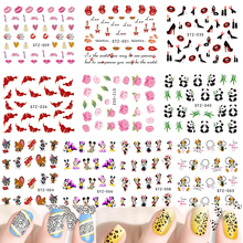 1Sheet Fashion Lovely 31 Style Water Transfer Sticker Nail Art Decals DIY Watermark Decor Tips Polish Manicure Tool TRSTZ032-064