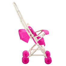 New DIY Assemble Baby Carriage Stroller Trolley Doll Furniture Happy Family For Barbie Dolls Accessories(China)
