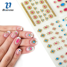24 Sheet Gem Model Gel Foil Manicure Gold Stamping Stickers For Nails Diy Beauty Design Bronzing 3D Nail Art Tips Decals