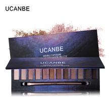 UCNABE 12 Color Nude Star Series Eye Shadow Palette Perfect Golden Sleek Smoky Eyeshadow Shimmer Matte Naked Palette Makeup Set(China)