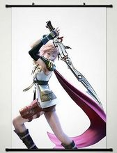 Home Decor Anime Final Fantasy Wall Scroll Poster Fabric Painting Lightning -040
