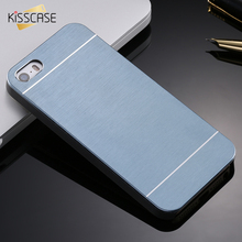 KISSCASE 4s Hot Luxury Aluminum Metal Brush Case for iphone 4 4S Phone Accessories Hard Back Cover for iphone 4 High Quality(China)