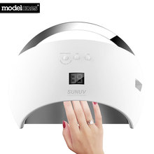 modelones SUN6 Smart Lamp Nail New Version LED Nail Dryer Metal Bottom LCD Timer Multicolors for Curing UV Gel Polish Nail Art