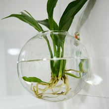 Glass Flower Planter Vase Home Garden Ball Decor Wall Hang Terrarium Container#T025#