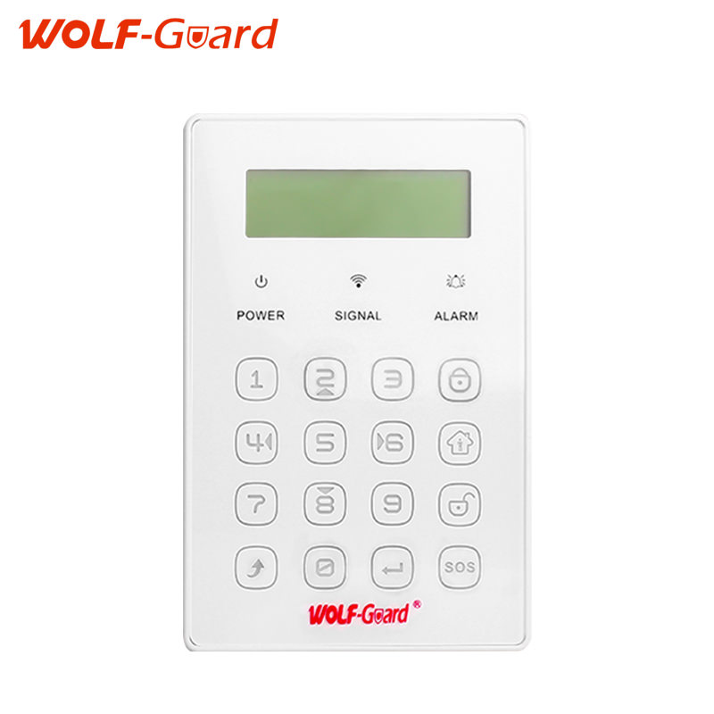 433MHZ Wireless Keyboard Tamper alarm function Smart Touch SOS Alarm Button LCD Display For Wolf-Guard GSM Alarm System(China)