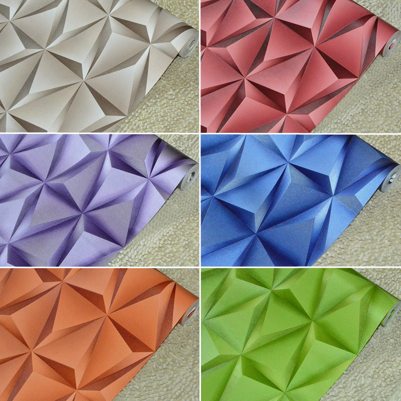 Triangle 3D Vision Background Wallpaper PVC Abstract Background<br>
