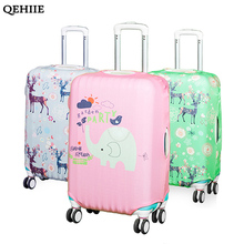QEHIIE Fashion Cartoon Luggage Cover 20 To 30Inch Cart Cover Cute Travel Accessories Thickened Protection Trolley Suitcase Cover(China)