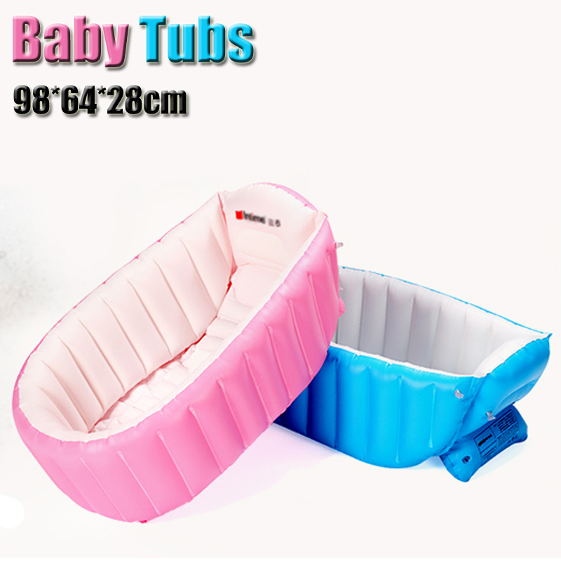 Portable Inflatable Baby Bath Kids Bathtub Thickening Folding ...