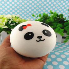 10cm Panda Mobile Phone Straps Squishy Charms Buns Kawaii  Bread Charms Key Chain panda Key Bag for Phone Emotional venting tool