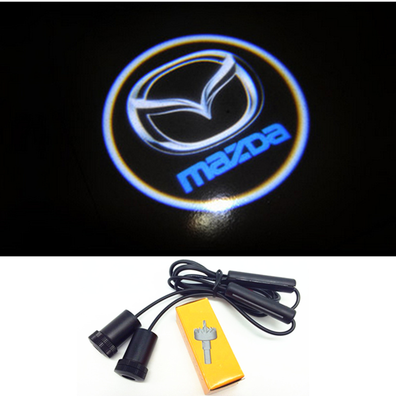 New 7W led chip Car projector door logo for mazda 3 6 CX-5 CX5 CX 5 ghost shadow lights, Support Custom DIY LOGO<br><br>Aliexpress