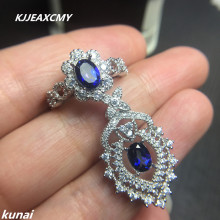 KJJEAXCMY Fine jewelry,  Multicolored jewelry Tanzania color Topaz set generous fashion 925 silver wholesale female models