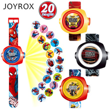 JOYROX Creative Cartoon Reflection Children Watch Fashion Silicone Strap Digital Wristwatch 2017 Hot Boys Girls Kids gifts Clock(China)