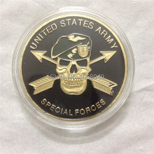 united states army special forces (green beret) this we'll defend challenge coin 10pcs/lot Free shipping(China)