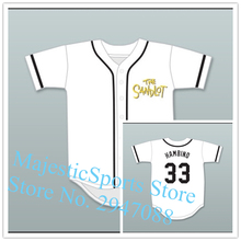 Hamilton 'Hambino' Porter 33 Baseball Jersey The Sandlot White Jersey(China)