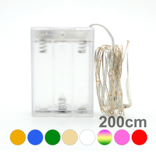 8 Colors 2M 20LEDs LED String Lights For Christmas Festival Wedding Party Holiday Decoration Garland Waterproof Strip Lamp