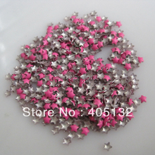 One Bag OD-72-Hot Pink Free Shipping 3D 3x3mm Neon Hot Pink Small Star Metal Stud Shiny Nail Decoration Lovely Outlooking