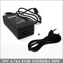 19V 4.74A 90W Laptop AC Adapter Charger Battery Charger Ordinateur Portable Toshiba PA3165U-1ACA PA3165E-1ACA